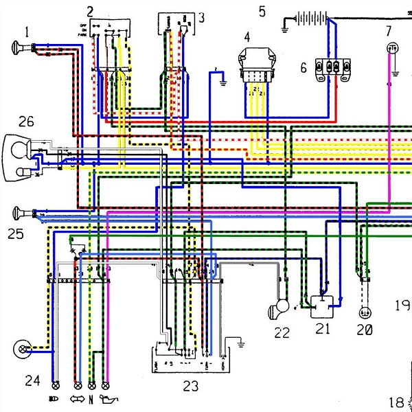 Проводка на т 25 схема