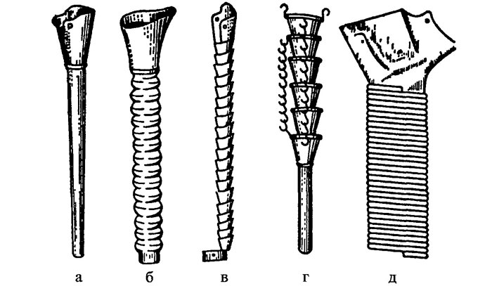 Типы семяпровода у сеялки